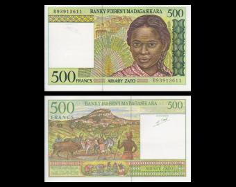 Madagascar, P-75b, 500 francs, 1994