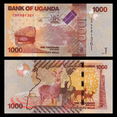 Uganda, P-49e, 1000 shilingi, 2017