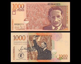 Colombia, P-456t, 1000 pesos, 2015