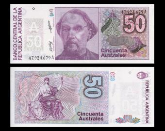 Argentine, p-326b2, 50 australes, 1986-89