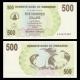 Zimbabwe, p-43, 500 dollars, 2006