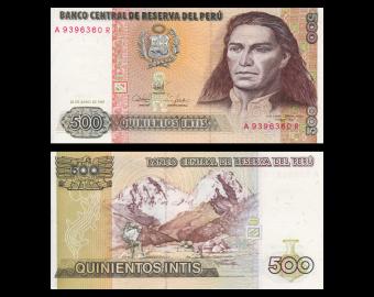 Peru, P-134b, 500 intis, 1987