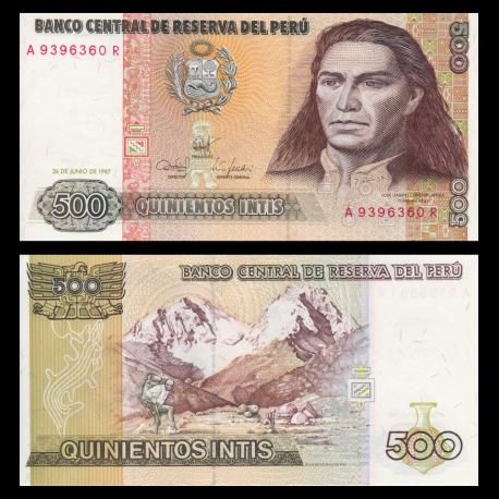 Pérou, P-134b, 500 intis, 1987