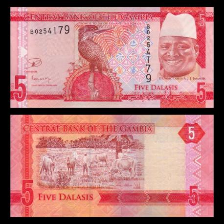 Gambia, p-31, 5 dalasis, 2015