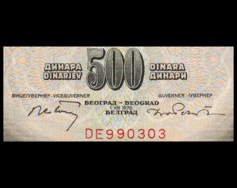 Yougoslavie, P-084a, 500 dinara, 1970