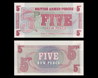 British Armed Forces, P-M47, 5 pence, 1972