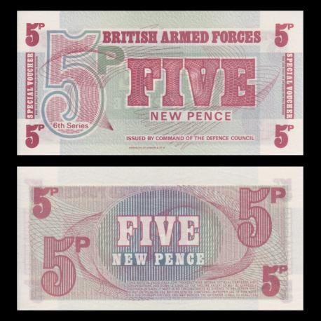 BBritish Armed Forces, p-M47, 5 pence, 1972