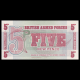 British Armed Forces, p-M47, 5 new pence, 1972