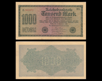 Germany, P-76b, 1000 Mark, 1922, SUP / Extremely Fine