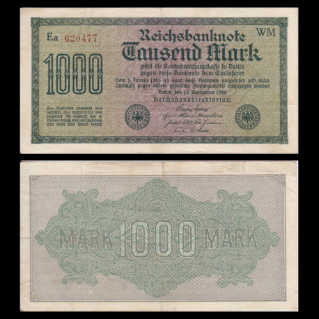 Germany, P-76c, 1000 Mark, 1922, SUP / Extremely Fine