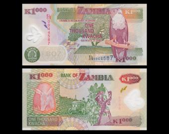 Zambia, P-44f, 1000 kwacha, 2008, Polymer
