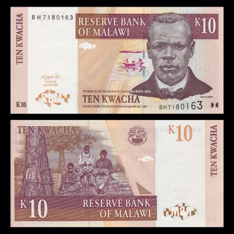 Malawi, P-51, 10 kwacha, 2004