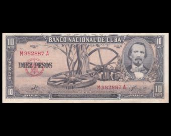 C, p-88c, 10 pesos, 1960, TTB / VeryFine