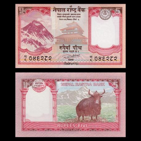 Nepal, p-76, 5 roupies, 2017