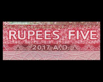 Nepal, P-76a, 5 roupies, 2017