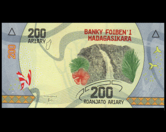 Madagascar, P-098, 200 ariary, 2017