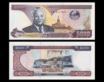Lao, P-34b, 5 000 kip, 2003