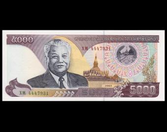 Laos, P-34b, 5 000 kip, 2003