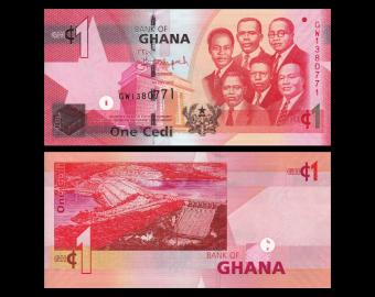 Ghana, p-37f, 1 cedi, 2015