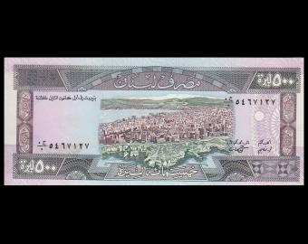 Lebanon, P-68, 500 livres, 1988, PresqueNeuf / A-UNC