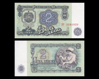 Bulgarie, P-94b, 2 leva, 1974