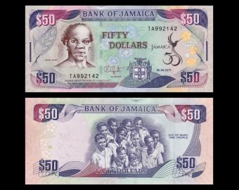 Jamaïque, P-89, 50 dollars, 2012