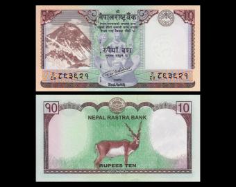 Nepal, P-77, 10 roupies, 2017