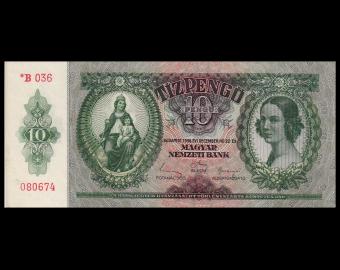 Hongrie, p-113, 10 pengö, 1936 (44-45)