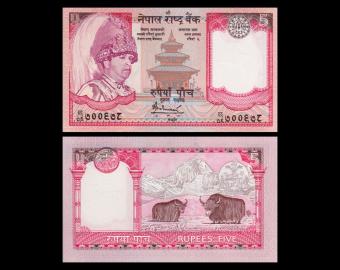 Nepal, P-53b, 5 roupies, 2005-2010