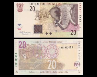 Afrique-du-Sud, p-129b, 20 rand, 2009