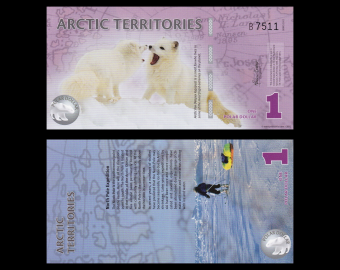Arctic Territories, 1 polar dollar, 2012