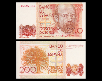Espagne, P-156, 200 pesetas, 1980