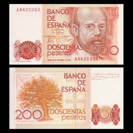 Spain, P-156, 200 pesetas, 1980