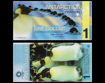 Antarctique, 1 dollar, 2011