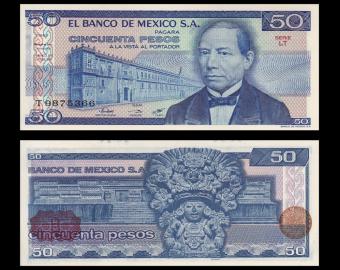 Mexique, p-073, 50 pesos, 1981