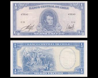 Chili, p-134Ac, 0.5 escudo, 19562-75