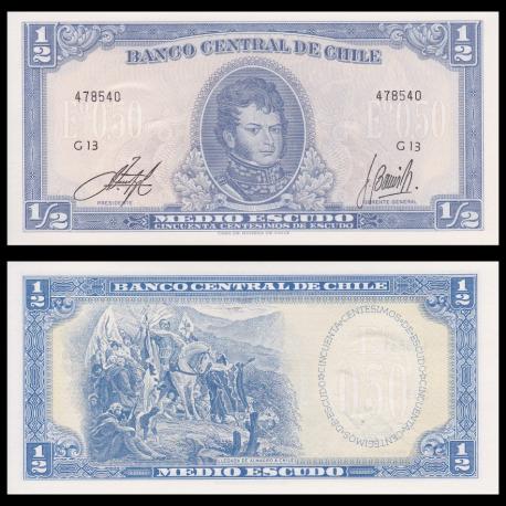Chile, p-134Ac, 0.5 escudo, 19562-75