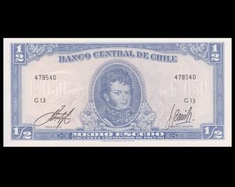 Chile, P-134Aa3, 0.5 escudo, 1962-75