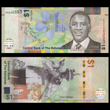 Bahamas, p77, 1 dollar, 2017
