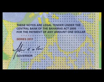 Bahamas, p-77, 1 dollar, 2017