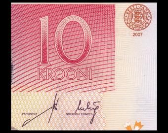 Estonia, P-86b, 10 krooni, 2007