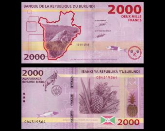 Burundi, P-52, 2.000 francs, 2015