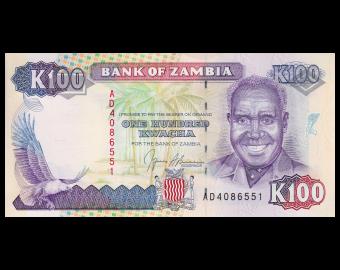 Zambia, P-34, 100 kwacha, 1991