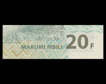 Congo, P-094A, 20 francs, 2003