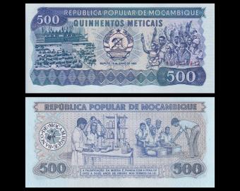 Mozambique, P-131a, 500 meticais, 1983