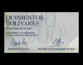 Venezuela, P-094b, 500 bolivares, 2017