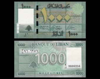 Liban, P-90b,1000 livres, 2012