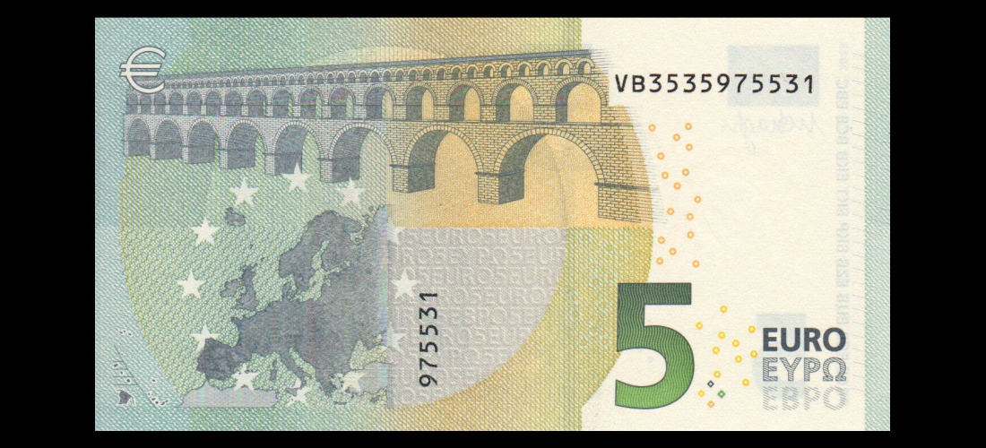 Billet de banque de collection à vendre : Euro, P-20V, 5 euros, 2013
