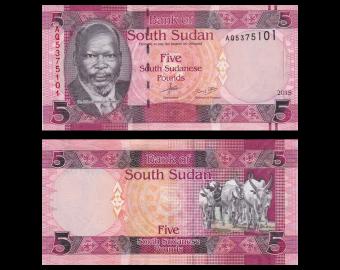Soudan du Sud, P-11, 5 pounds, 2015