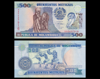 Mozambique, P-134, 500 meticais, 1991